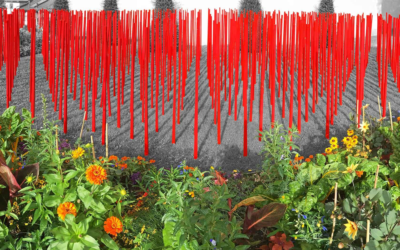 Flood Flowers – Jardin de l'Eveche, Annecy