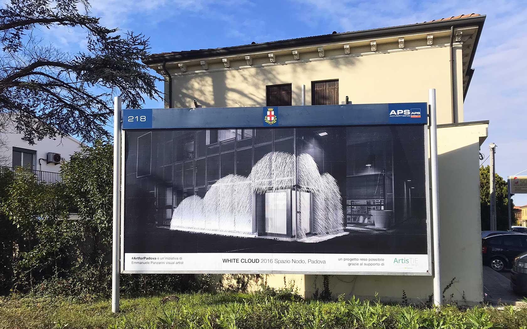 #ArtforPadova – opera White Cloud